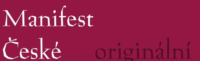 Manifest české moderny – originální znění