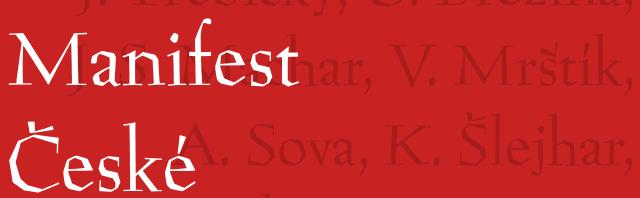 Manifest České Moderny – referát