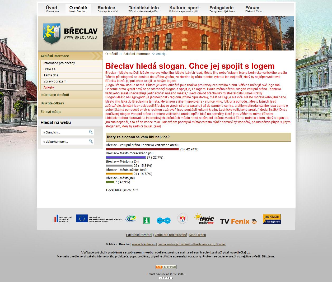 Anketa: Břeclav hledá slogan